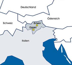 Sanikal Standorte Südtirol Italien Europa