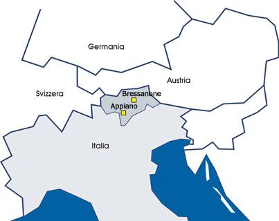 Sanikal cartina Alto Adige Italia Europa